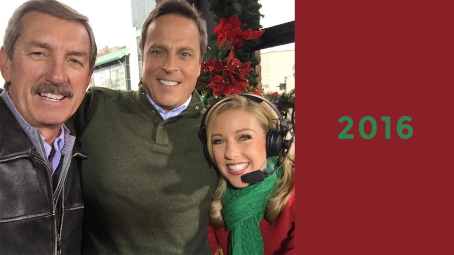 2016: Bob, Neil Orne and Dawn Davenport at the Nashville Christmas Parade