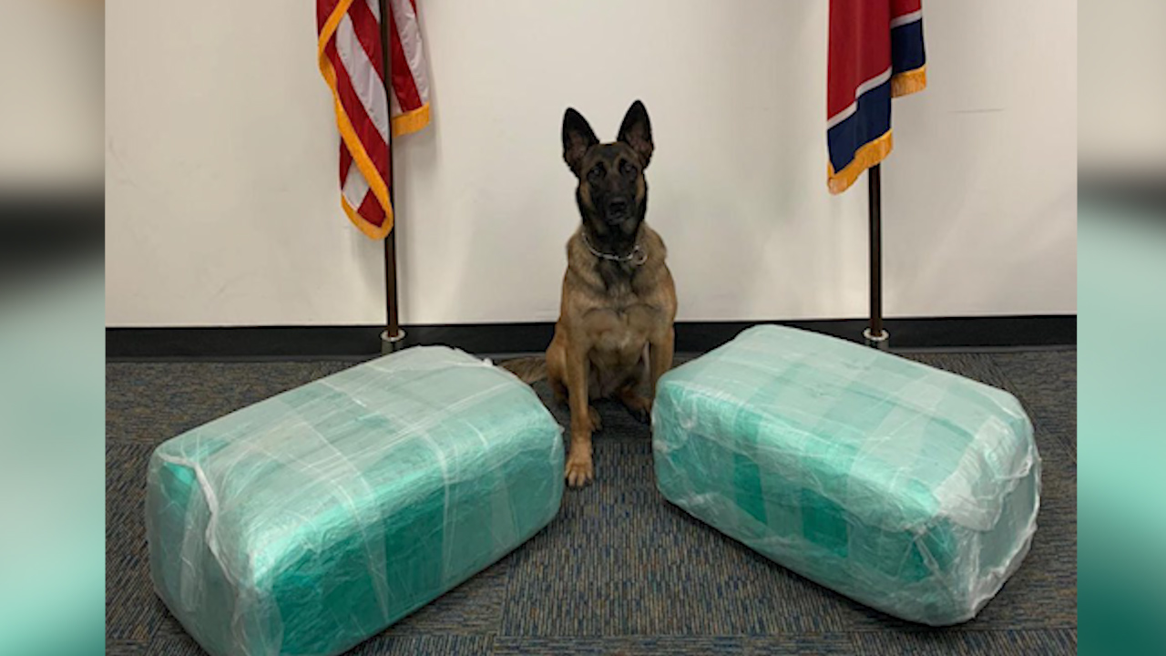 87 pounds of marijuana found at BNA