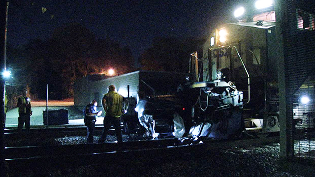 Lindell Ave train crash