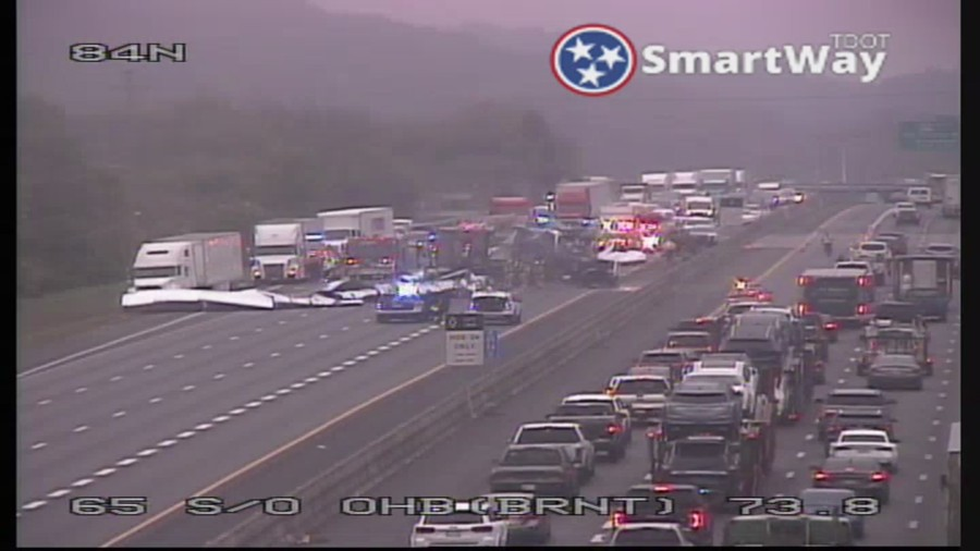 I-65 Brentwood steel coil fire