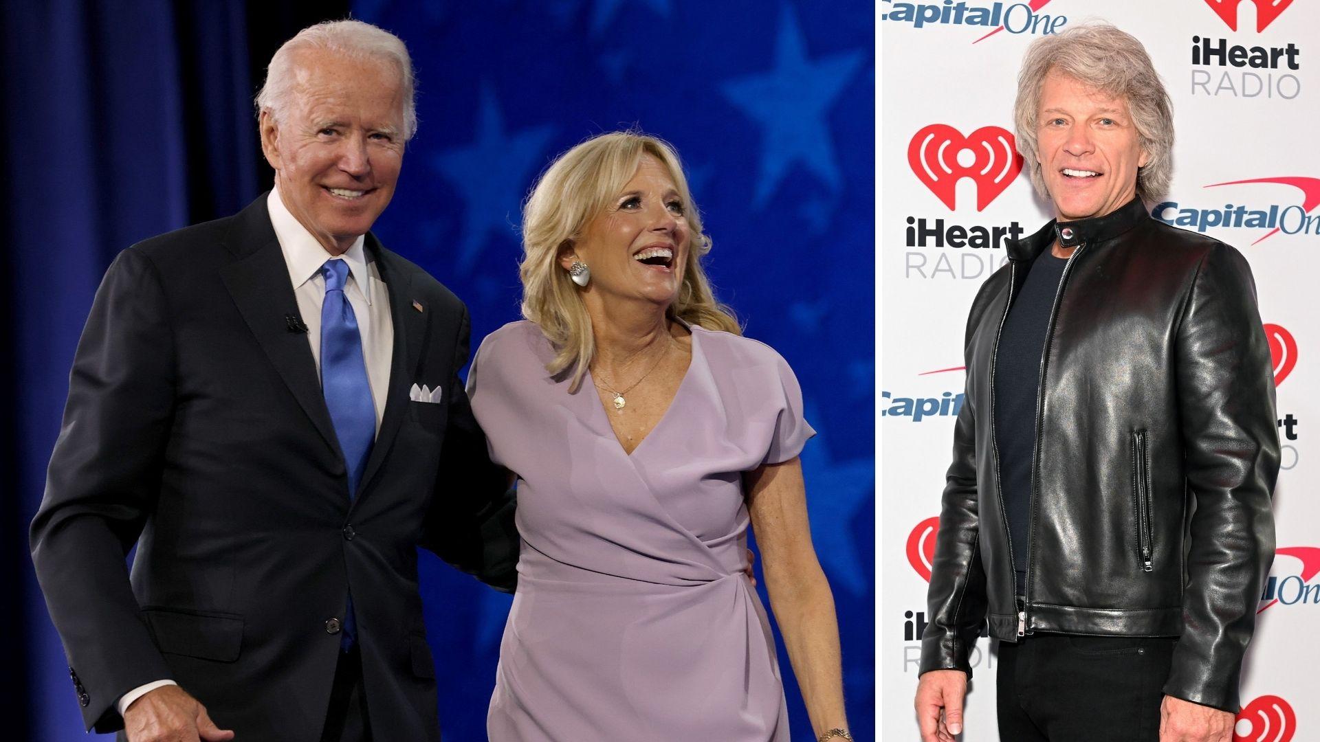 Joe and Jill Biden and Jon Bon Jovi