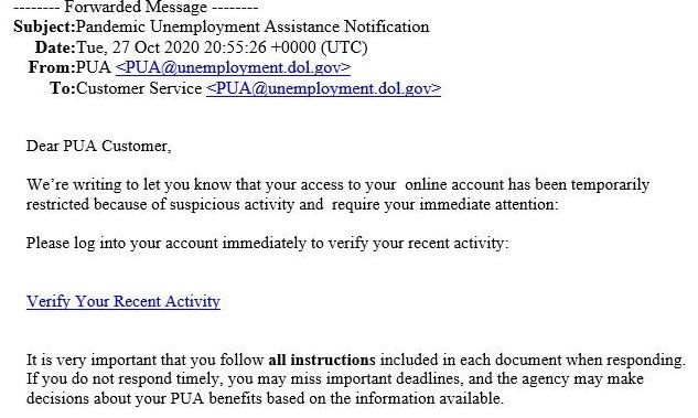 Tn Department Of Labor Warns Of Nationwide Unemployment Email Scam Wkrn News 2