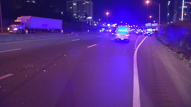 I-40 juvenile crash in stolen car at Broadway