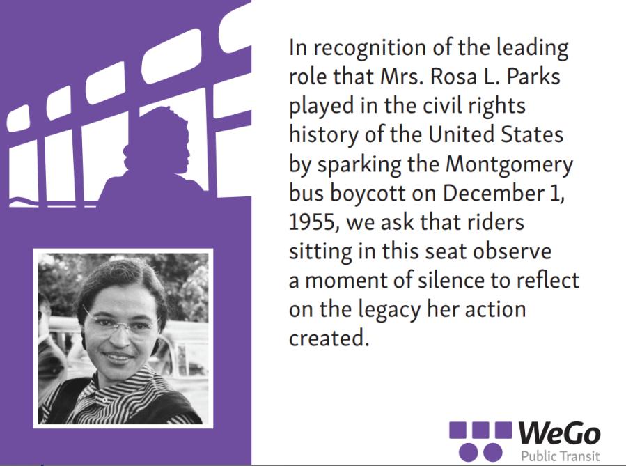 WeGo Rosa Parks