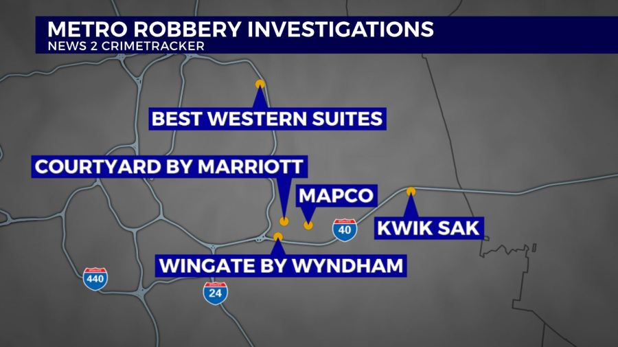 Donelson robbery spree
