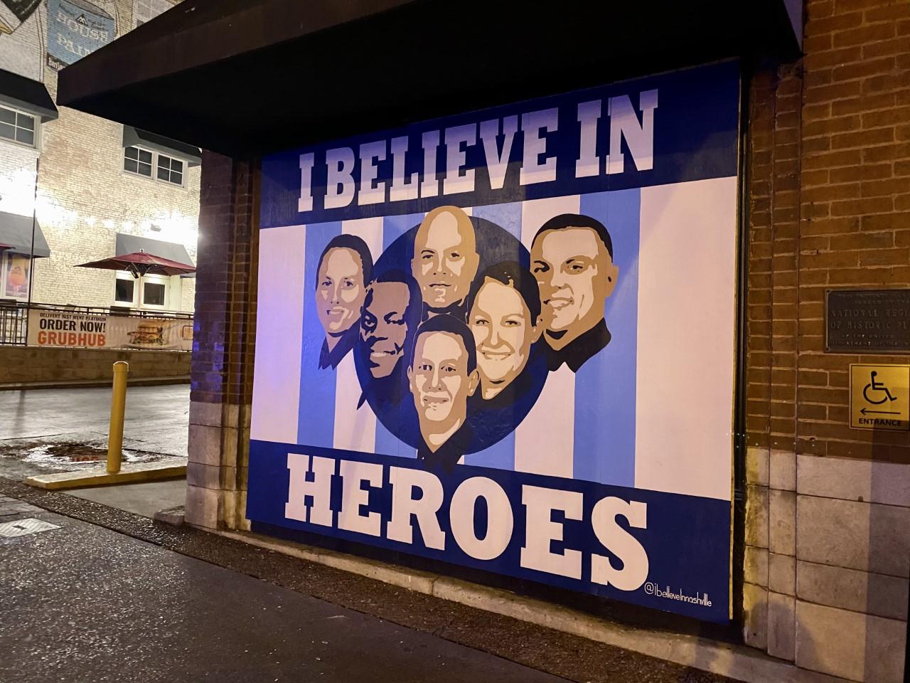 I believe in Heroes mural