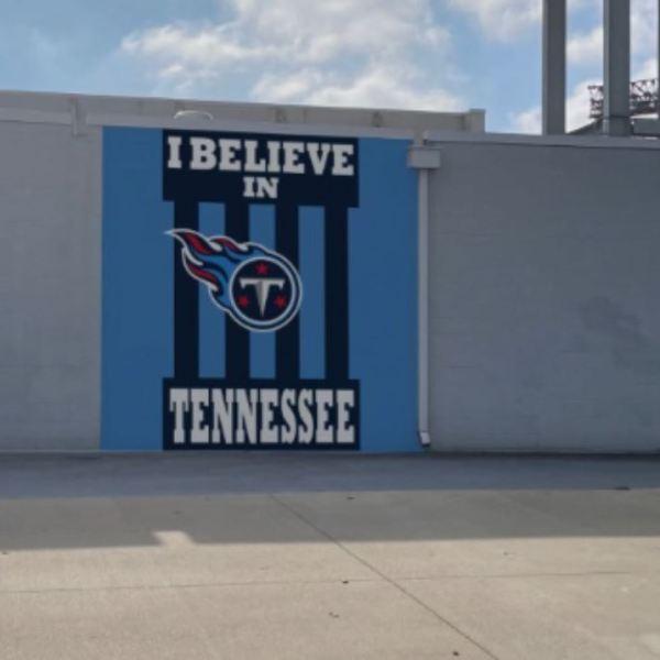 Titans I Believe mural