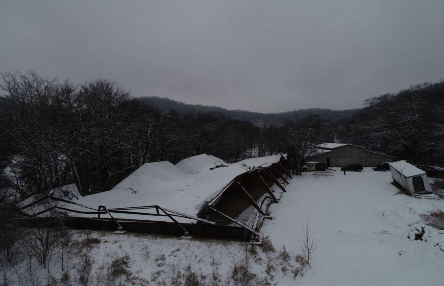 Franklin barn collapse