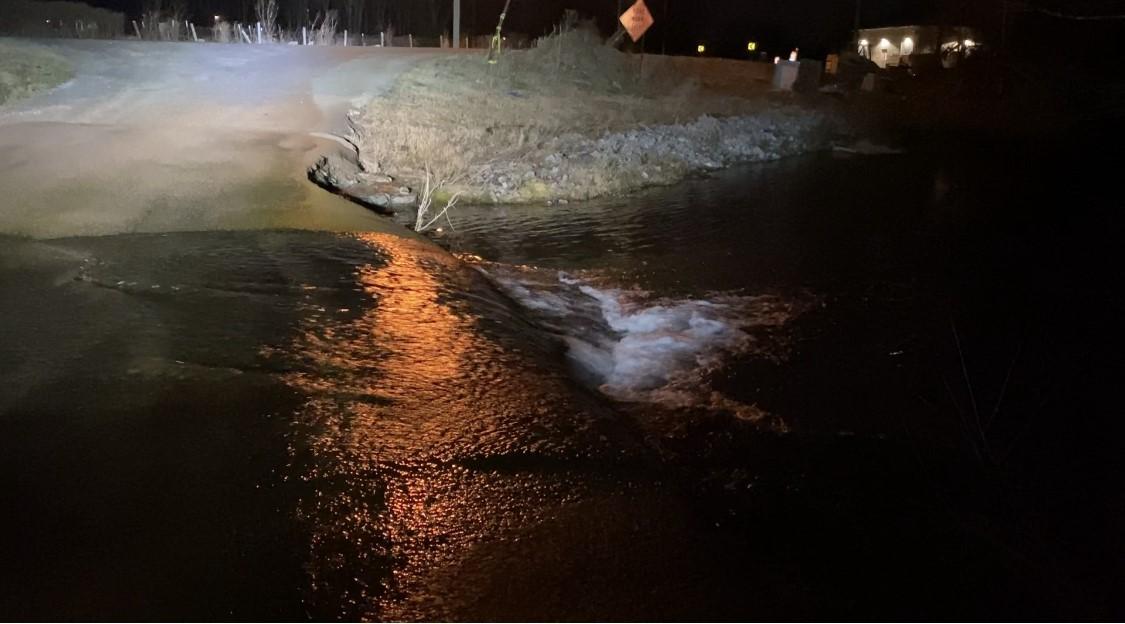Rocky Fork Road flooding