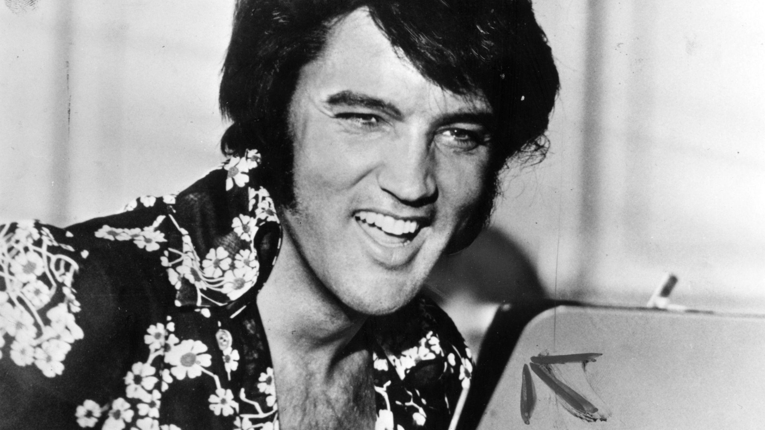 Elvis Presley laughing