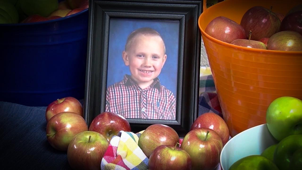 Baby Joe Clyde Daniels loved apples