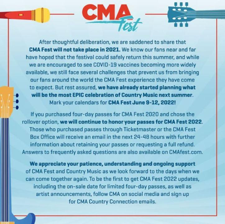 CMA Fest 2021