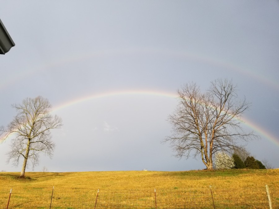 Double rainbow in Overton County