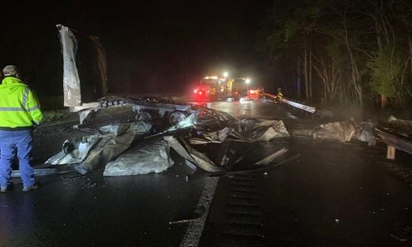 Dickson County cargo fire