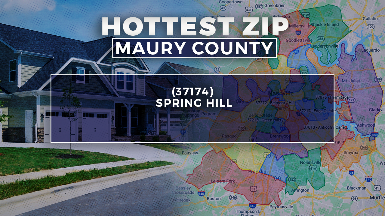 Hottest Zip Code in Maury County