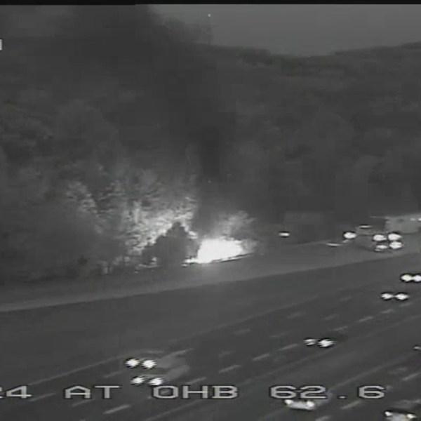 I-24 fiery crash