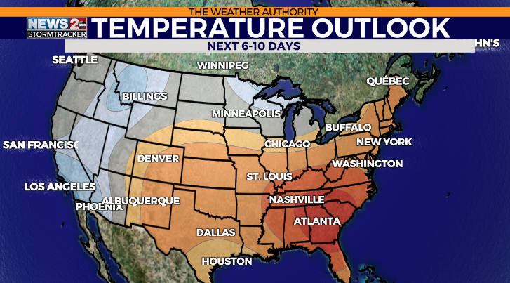 First potential heat wave of 2021 on the way!   WKRN News 2