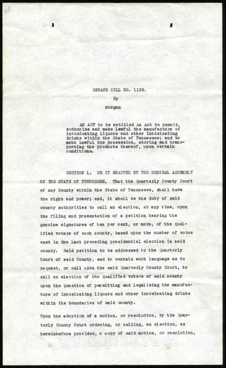 TN Prohibition Repeal