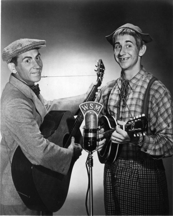 Grand Ole Opry act Lonzo and Oscar.