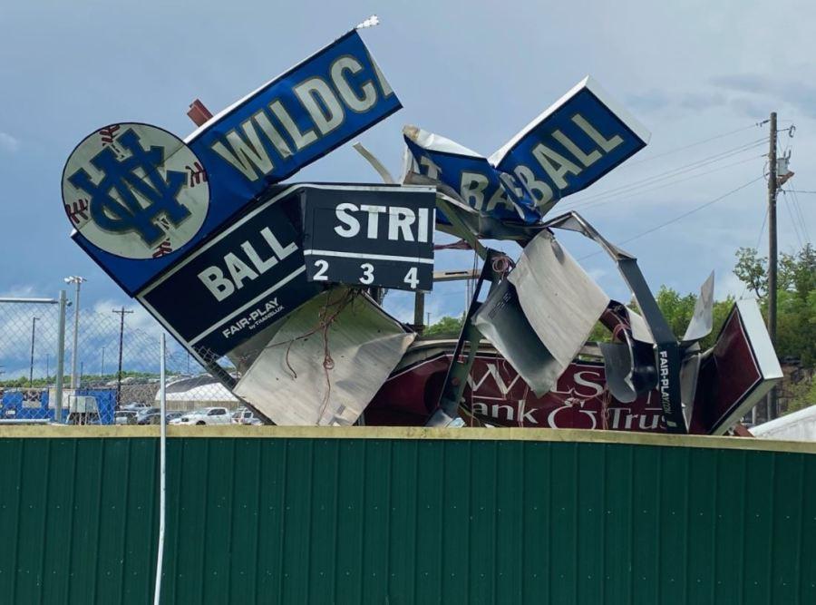 Wilson Central High scoreboard