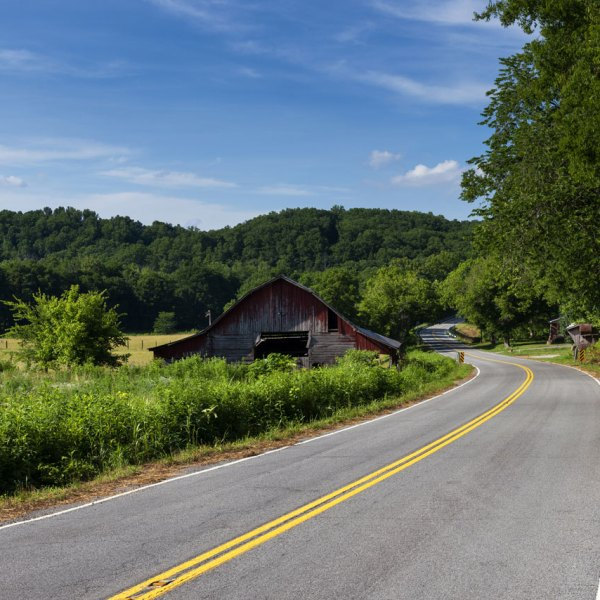 Rural Tennessee road