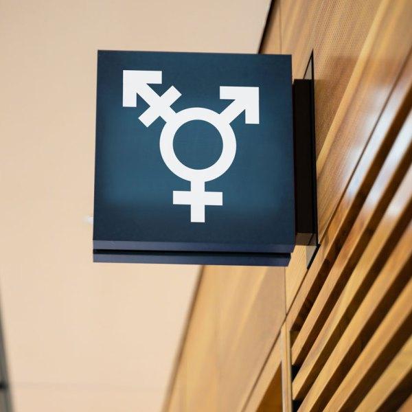 Genderless Public Restroom Sign