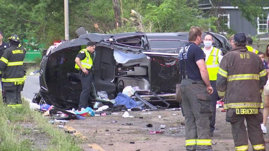 I-40 rollover ramp crash