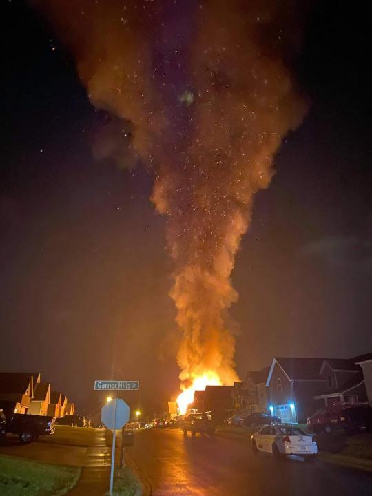Clarksville Shirley Drive fire