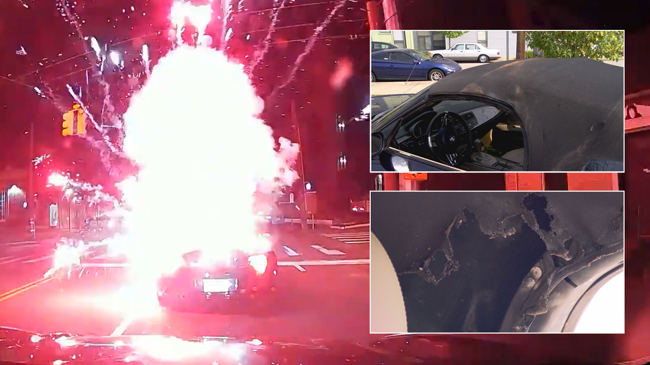 Firework hits car in Nashville