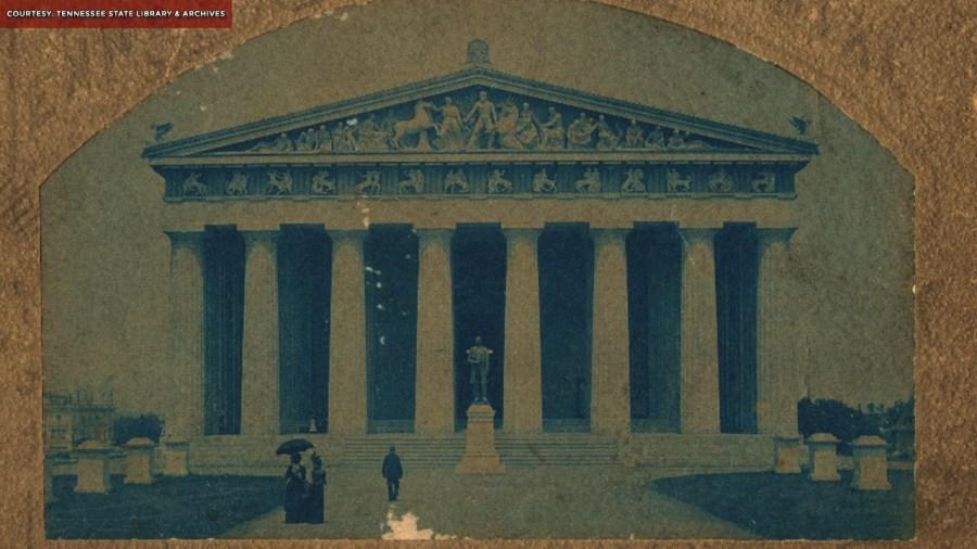 Vanderbilt Statue outside Parthenon