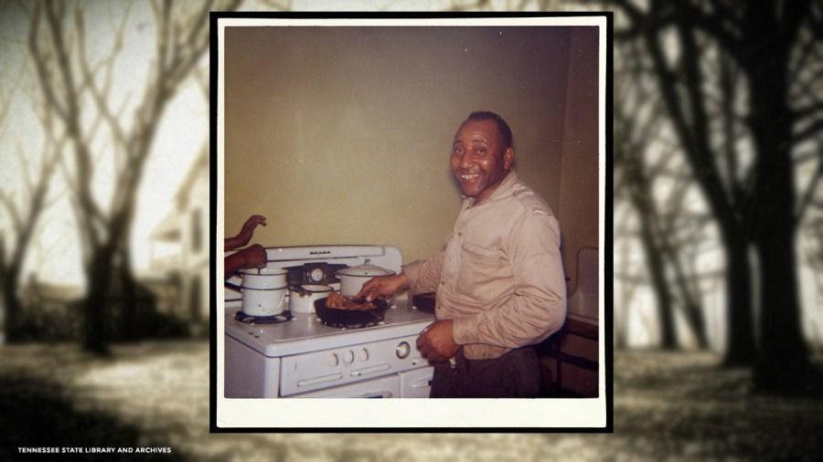 Albert Morton in the kitchen