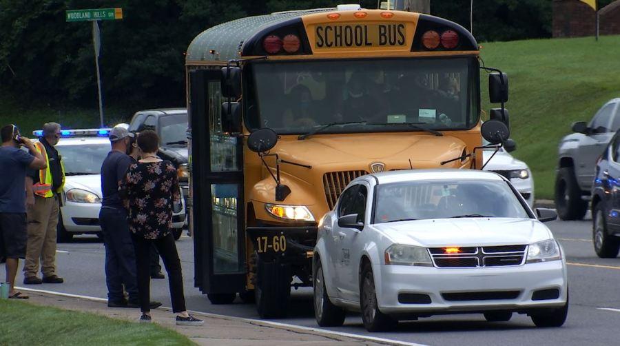 MNPS bus crash Old Hickory Boulevard