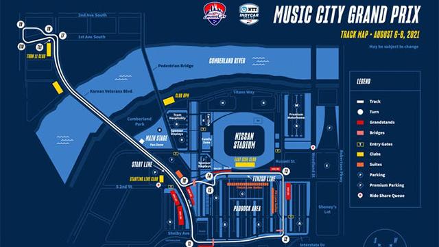 Music City Grand Prix course