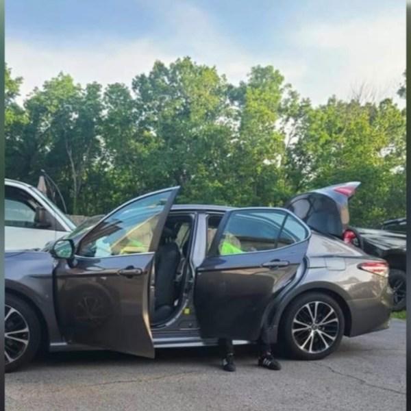 Nashville fire stolen car