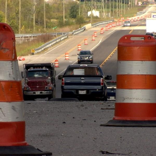 Highway 109 construction