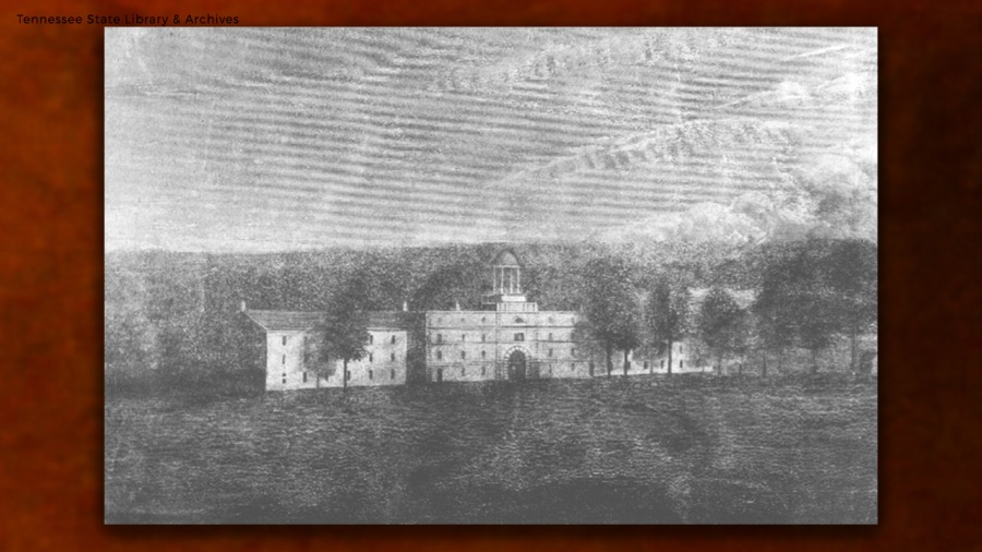 Tennessee State Penitentiary, located on Church Street at Stonewall Avenue (present-day 15th Avenue)